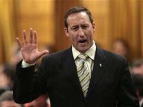 <p>Canada's Defence Minister Peter MacKay speaks during Question Period in the House of Commons on Parliament Hill in Ottawa in this file photo from April 15, 2008. REUTERS/Christopher Pike</p>