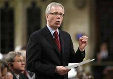 <p>Liberal leader Stephane Dion speaks during Question Period in the House of Commons on Parliament Hill in Ottawa April 7, 2008. REUTERS/Chris Wattie</p>