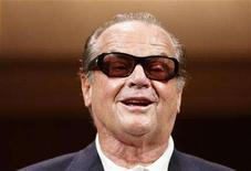 "<p>Jack Nicholson smiles after a news conference to promote his movie ""The Bucket List"" in Tokyo April 30, 2008. REUTERS/Kim Kyung-Hoon</p>"