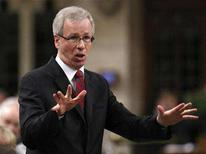 <p>Liberal leader Stephane Dion speaks during Question Period in the House of Commons on Parliament Hill in Ottawa June 5, 2008. REUTERS/Chris Wattie</p>