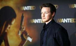 <p>Scottish actor James McAvoy poses during a photocall to present his new film 'Wanted' in Berlin June 10, 2008. REUTERS/Johannes Eisele</p>