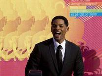 <p>Will Smith arrives for the opening of the Moscow Film festival to promote his movie 'Hancock' June 19, 2008. REUTERS/Sergei Karpukhin</p>