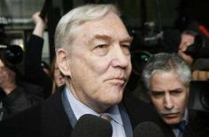 <p>Conrad Black leaves the Derksen Federal Courthouse after his sentencing hearing in Chicago December 10, 2007. A federal appeals court on Wednesday upheld the conviction of former press baron Black and three ex-colleagues found guilty last year of defrauding shareholders of one-time newspaper publishing giant Hollinger International Inc. REUTERS/John Gress</p>