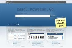<p>A screenshot of Powerset.com, taken on July 1, 2008. REUTERS/www.powerset.com</p>