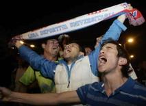 <p>Torcedores do LDU comemorarm a vitória de seu time em Quito, 2 de julho REUTERS. Photo by Reuters</p>