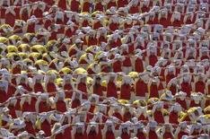 <p>Празднование Дня независимости Белоруссии в Минске 3 июля 2008 года. Около сорока человек пострадали в Минске в результате взрыва в ночь на пятницу на праздничном концерте по случаю Дня независимости, на котором присутствовал президент страны Александр Лукашенко. (REUTERS/Vasily Fedosenko)</p>