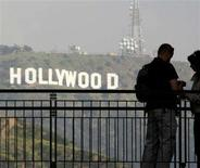 <p>The famed Hollywood sign at the hills in California, March 14, 2008. The potential for a strike by the Screen Actors Guild or a possible lockout of the union's roughly 120,000 members by the studios will be greatly influenced by the results of rival union AFTRA's contract ratification vote. Ballots are due back Monday with the results expected to be announced Tuesday. REUTERS/Fred Prouser</p>