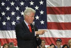 "<p>Former President Bill Clinton speaks during a ""Get Out The Vote"" rally in Lexington, Kentucky, May 19, 2008. REUTERS/Frankie Steele</p>"