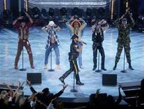 "<p>Disco group the Village People, with Victor Willis singing in front, perform during a taping of ""American Bandstand's 50th...A Celebration"" in Pasadena, California, April 20, 2002. REUTERS/Jim Ruymen</p>"