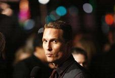 "<p>Matthew McConaughey is interviewed at the premiere of ""Fool's Gold"" at the Grauman's Chinese theatre in Hollywood, California January 30, 2008. McConaughey's Brazilian girlfriend has given birth to a boy named Levi, McConaughey said on Tuesday. REUTERS/Mario Anzuoni</p>"