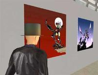 <p>Un avatar visita la mostra virtuale 'Femmes Heroiques, une mythologie' organizzata dal ministero della Cultura francese su Second Life (immagine d'archivio). REUTERS/Suzanne Miller</p>