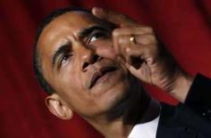 <p>Barack Obama é dado como favorito pelos magnatas de mídia norte-americanos, embora eles não tenham certeza de como a sua vitória afetaria os negócios do setor. Na foto, Obama fala em evento endereçado às mulheres, em Nova York, 10 de julho de 2008. Photo by Mike Segar</p>