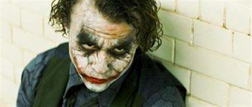 "<p>Heath Ledger stars as The Joker in the action drama ""The Dark Knight."" REUTERS/Warner Bros./Handout</p>"
