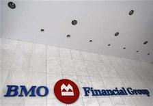<p>A Bank of Montreal sign is seen at a branch in Toronto, November 9, 2007. REUTERS/Mark Blinch</p>