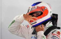 <p>Piloto brasileiro da Honda  Rubens Barrichello durante treino livre desta sexta-feira para Grande Prêmio da Alemanha de Fórmula 1, no circuito de Hockenheim. Photo by Thomas Bohlen</p>