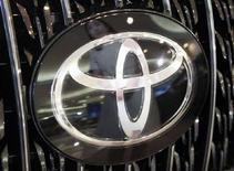 <p>Logo Toyota in un'immagine d'archivio. REUTERS/Issei Kato (Giappone)</p>