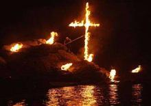 <p>L'isola di Tinos, meta di moltissimi pellegrini. REUTERS/Yannis Behrakis</p>