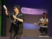 <p>Una presentazione della 'Wii Music' di Nintendo. REUTERS/Fred Prouser</p>