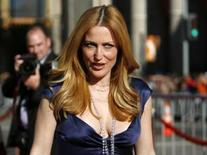 "<p>Cast member Gillian Anderson attends the movie premiere of ""The X-Files: I Want to Believe"" at the Grauman's Chinese theatre in Hollywood, California July 23, 2008. The movie opens in the U.S. on July 25. REUTERS/Mario Anzuoni</p>"