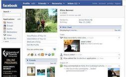 <p>A sample Facebook profile is seen in an undated handout image. REUTERS/Facebook/Handout</p>