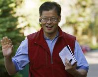 <p>L'amministartore delegato di Yahoo, Jerry Yang. REUTERS/Rick Wilking (UNITED STATES)</p>
