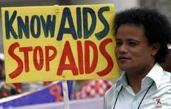 <p>Manifestazione anti-Aids a Siliguri, nel nord-est dell'India, nel marzo scorso. REUTERS/Rupak De Chowdhuri</p>
