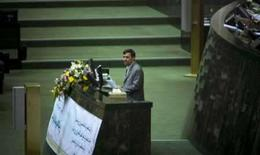 <p>O presidente iraniano, Mahmoud Ahmadinejad, durante discurso a congressistas em Teerã. Uma carta do Irã às potências mundiais não menciona a possibilidade de suspensão das atividades nucleares do país, disse uma autoridade iraniana na terça-feira. Photo by Raheb Homavandi</p>