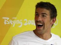 <p>Michael Phelps, dos EUA, em Pequim. Photo by Jason Reed</p>