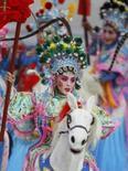 <p>Cena da pré-cerimônia de abertura das Olimpíadas de Pequim    REUTERS. Photo by Mike Blake</p>