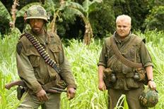 "<p>Robert Downey Jr. and Jack Black in a scene from ""Tropic Thunder"". REUTERS/DreamWorks Pictures/Handout</p>"