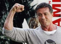 "<p>Actor Sylvester Stallone poses during a photocall to promote the movie ""Rambo"" in Madrid January 28, 2008. REUTERS/Susana Vera</p>"