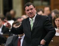 <p>Canada's Finance Minister Jim Flaherty speaks during Question Period in the House of Commons on Parliament Hill in Ottawa June 4, 2008. REUTERS/Chris Wattie</p>