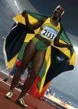 <p>A jamaicana Veronica Campbell-Brown ganhou o ouro dos 200 metros feminino dos Jogos de Pequim na quinta-feira, no Ninho do Pássaro, com o melhor tempo do ano, graças a uma largada muito rpida. Photo by Jerry Lampen</p>