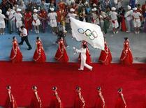 <p>Un momento della cerimonia di chiusura. REUTERS/Kim Kyung-Hoon</p>