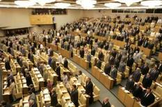 <p>Deputados da Câmara Baixa russa. Nesta segunda-feira, os parlamentares do país reconheceram a independência das regiões separatistas georgianas. A medida ainda tem de ser aprovada pelo presidente Dmitry Medvedev. Photo by Alexander Natruskin</p>