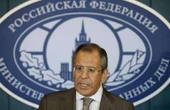 <p>Министр иностранных дел России Лавров выступает на брифинге в Москве, 13 августа 2008 года Военный конфликт в Грузии напомнил Западу о неприятной для него истине: у него нет рычагов влияния на Россию. REUTERS/Alexander Natruskin (RUSSIA)</p>
