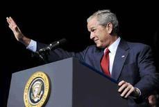 <p>Президент США Джордж Буш в Орландо (Флорида), 20 августа 2008 года. Президент США Джордж Буш призвал лидеров России уважать территориальную целостность Грузии и не признавать самопровозглашенные республики Южную Осетию и Абхазию независимыми государствами. REUTERS/Jonathan Ernst (UNITED STATES)</p>