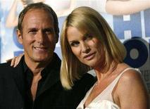 "<p>Nicollette Sheridan and Michael Bolton pose at the premiere of ""Over Her Dead Body"" at the ArcLight theatre in Hollywood, January 29, 2008. REUTERS/Mario Anzuoni</p>"