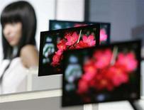 <p>Immagine d'archivio di schermi Sony. REUTERS/Michael Caronna (JAPAN)</p>
