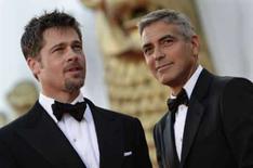 <p>Comédia de espionagem dos irmãos Coen divide críticos em Veneza. Os atores Brad Pitt e George Clooney no Festival de Veneza. O filme mais recente dos irmãos Joel e Ethan Coen, a comédia maluca 'Queime Depois de Ler', dividiu a crítica. 27 de agosto. Photo by Max Rossi</p>