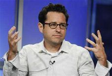 "<p>J.J. Abrams, executive producer of the new drama series ""fringe"" takes part in a panel discussion at the Fox TV network summer press tour in Beverly Hills, California July 14, 2008. REUTERS/Fred Prouser</p>"