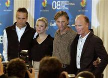<p>'Appaloosa' cast members from L-R Jeremy Irons, Renee Zellweger, Viggo Mortensen and Ed Harris pose for photos during their news conference at the 33rd Toronto International Film Festival, September 5, 2008. REUTERS/ Mike Cassese</p>