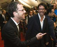 "<p>Directors and brothers Ethan Coen (L) and Joel Coen arrives at the ""Burn After Reading"" gala during the 33rd Toronto International Film Festival, September 5, 2008. REUTERS/Mark Blinch</p>"