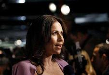 "<p>Cast member Minnie Driver is interviewed at the season two premiere screening of ""The Riches"" at the Pacific Design Center in Los Angeles March 16, 2008. REUTERS/Mario Anzuoni</p>"
