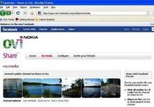 <p>Il sito Share on Ovi di Nokia. REUTERS/Tarmo Virki (FINLAND)</p>