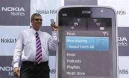 <p>Il lancio del nuovo Nokia N96 in India nell'agosto scorso. REUTERS/Parth Sanyal</p>
