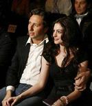 <p>Actress Anne Hathaway and Raffaello Follieri during New York Fashion Week, February 3, 2008. REUTERS/Lucas Jackson</p>