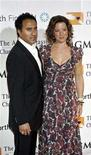 <p>Musician Sarah McLachlan (R) and husband Ashwin Sood arrive at the 11th annual Andre Agassi Charitable Foundation's Grand Slam benefit concert at the MGM Grand Garden Arena in Las Vegas, Nevada October 7, 2006. REUTERS/Tiffany Brown</p>