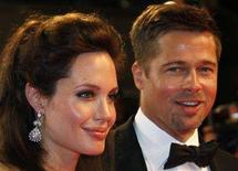"<p>Cast member Angelina Jolie (L) and actor Brad Pitt leave after the screening of ""The Exchange"" by U.S. director Clint Eastwood at the 61st Cannes Film Festival May 20, 2008. REUTERS/Vincent Kessler</p>"