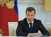 <p>O presidente russo, Dmitry Medvedev. Na quarta-feira, o ministério das Relações Exteriores da Rússia afirmou que a Otan tem 'mentalidade de guerra fria'. Photo by Ria Novosti</p>